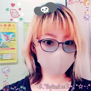 色付きレンズ眼鏡で感染予防✩.*˚