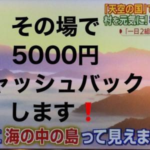 野迫川村役場の心意気‼️現金5000円を‼️その場で‼️キャッシュバック‼️