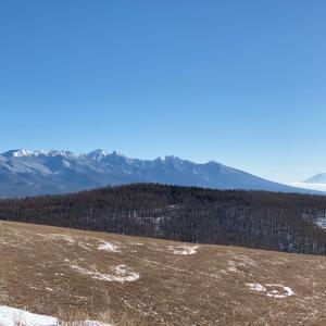 見渡す限り雪山