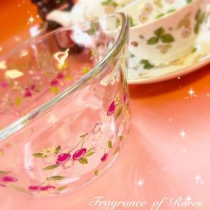 ガラスにもポーセラーツ♪こちらはこの夏に制作された『そうめん鉢』ですが…冬は…