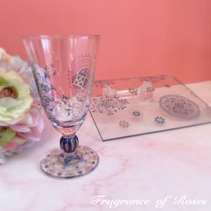 動画レッスン…ガラスのアラビア風グラス♪さらにポイントを絞って詳しくレッスンします