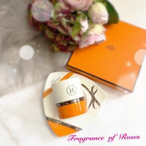 HERMES風になっちゃう魔法のオレンジ単色転写紙でカップアンドソーサー♪