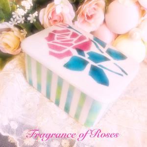 ポーセラーツインストラクターカリキュラム♪ステンシルのふたもの…素敵な薔薇のデザイン♪