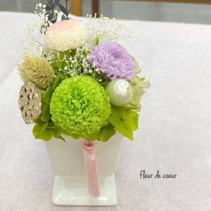 フリーレッスンでお供え花