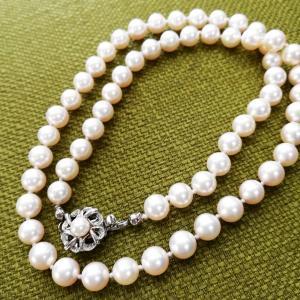 真珠ネックレスの糸切れ、オールノット修理( 〃▽〃)