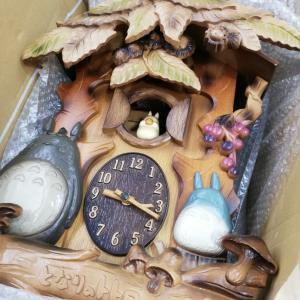 神奈川から、トトロ掛け時計修理に感謝(*^^*)
