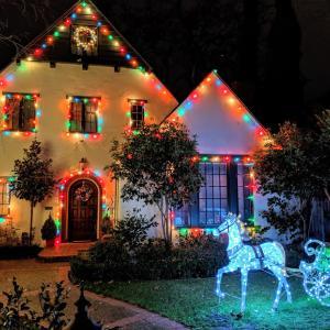 パロアルトのクリスマスツリーレーン♪2019 住宅街のイルミネーション/シリコンバレー