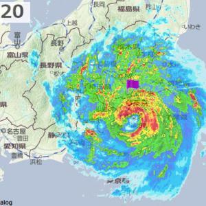 雨雲レーダーの台風15号((((;゚Д゚)))) 過去に描いた台風被害の様子Σ(゚д゚lll)