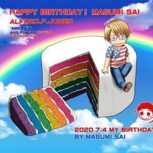 彩ますみ(MASUMI)HAPPY BAIRTHDAY!2020 描きヾ(*´∀`*)ノ♪*゚