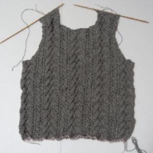 グレーのセーター3