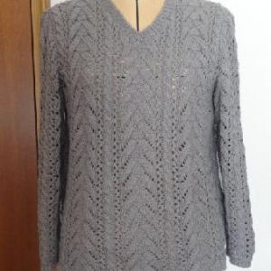 コットンシルク・グレーのセーター・完成