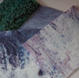 クレマチスのランプシェード・ガラスカット1