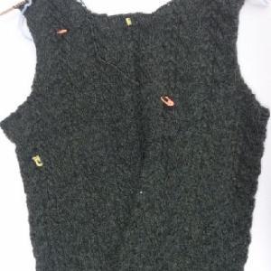 ダークグリーンのセーター3