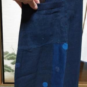 藍のジャンバースカート