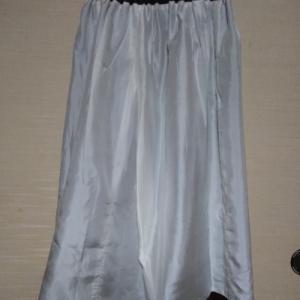 大島紬のベストとスカートを試着