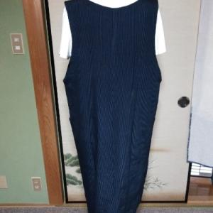 縞のジャンバースカート
