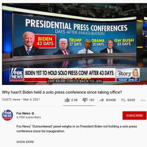 ホワイトハウスに却下されたバイデンさんの質問コーナー