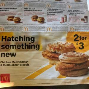 新メニュー Chicken McGriddles