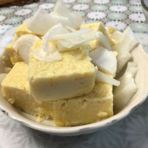 とうもろこしで作ったお豆腐