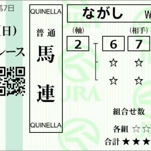 神戸新聞杯 馬券