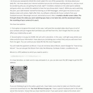 PDFファイルが添付された脅迫メール