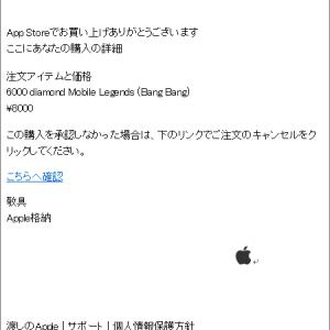 Apple を騙ったフィッシング詐欺に注意(230)