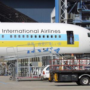 伊丹空港では、なじみの薄い AIRDO ですが ・・・