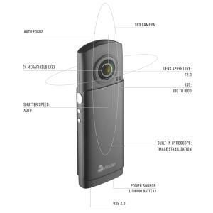 7Kフォト・3Kビデオが撮影可能な360°VRカメラ「VRDL360」-Rakunew