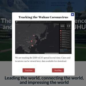 新型コロナウイルス感染リアルタイムマップをジョンズ・ホプキンズ大学公開