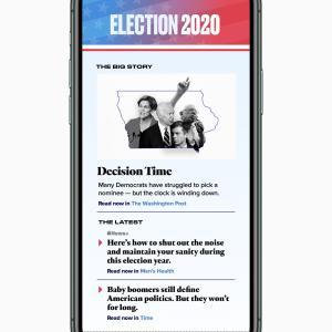 Apple News、2020年の大統領選挙の特別報道を開始