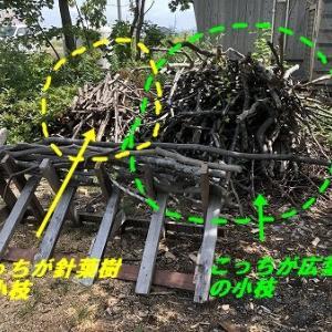薪作り・・着々と広葉樹の小枝編。