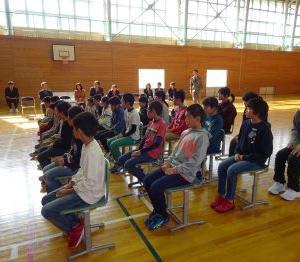 10月16日(水)中川小学校最後の後期始業式
