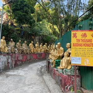 笑っちゃう金の仏像のお寺@香港 沙田