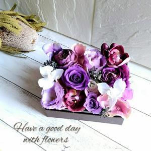 【オーダー】仏花のボックスフラワー