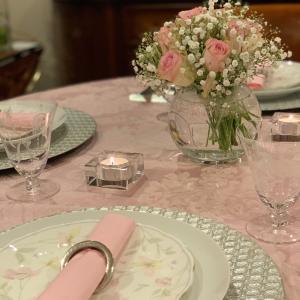 ピンクの食卓で♪