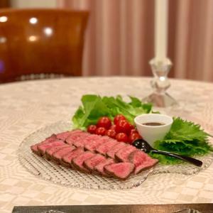 日曜日の晩ごはん〜牛肉たたきとてこね寿司〜