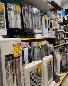 リサイクルショップ 高山岡本店より暖房家電のご案内