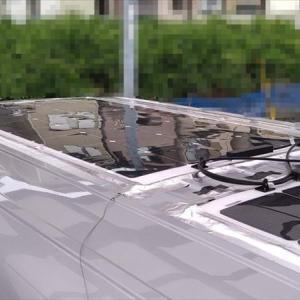 ハイエースに早くもソーラーパネル増設(*^^*)
