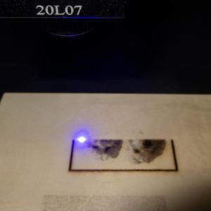 3Dプリンターにレーザーユニットを取り付けて遊んでみました(*^^*)