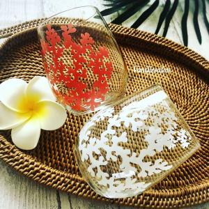 ガラスの季節 サンゴのグラス