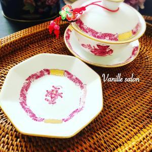 手描き 蓋碗&豆皿セット