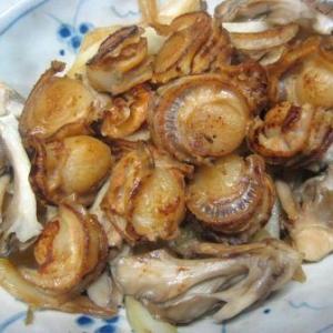 舞茸とミニ帆立炒め
