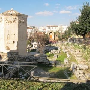 アテネのローマン・アゴラの猫たち