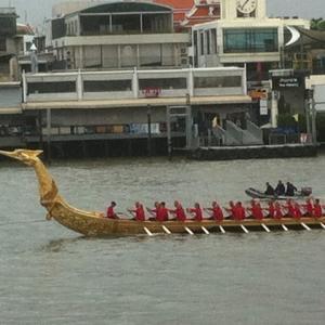 24日にタイ王室御座船水上パレード バンコクのチャオプラヤ川で