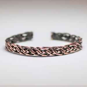 Copper Braid Bracelet ! 6本編み。