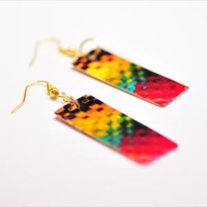 Brassplate earring!