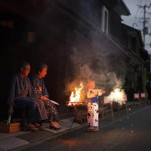 鉈屋町の迎え火