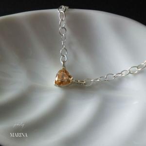 ちいさなハートのネックレス - silver