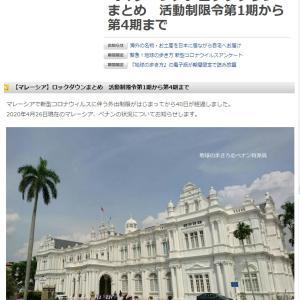 【マレーシア】ロックダウンまとめ 活動制限令第1期から第4期まで