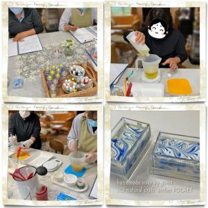 手作り石けん教室基礎コース『マーブル模様の石けん』